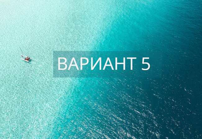 Вариант 5 ЕГЭ по русскому языку