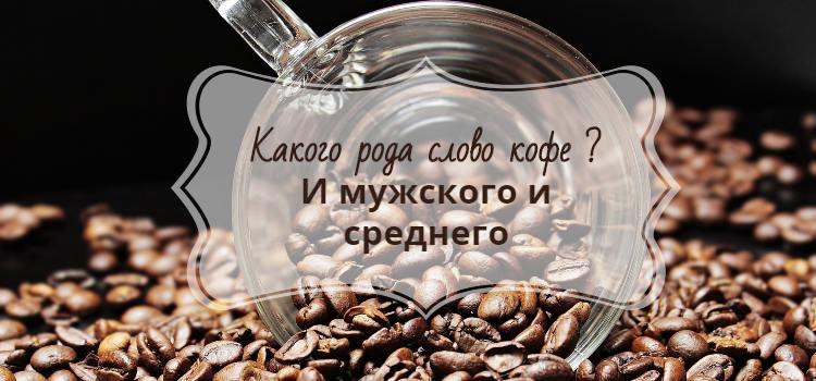 Кофе род существительного средний и мужской
