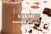 Какой род у существительного какао